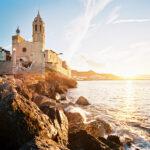 Sitges, Kirche am Meer