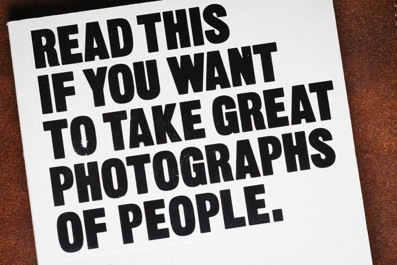 Machine generated alternative text: READ THIS IF WANT TO GREAT PHOTOGRAPHS OF PEOPLE.